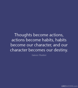 Thoughts actions